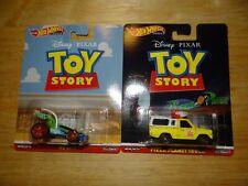 Lot 2 2019 Hot Wheels RC CAR & PIZZA PLANET TRUCK Disney Pixar Toy Story Premium