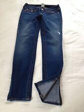 True Religion Women's Gwen Low Rise Skinny Zipper Ankle Jeans Size 26 L31