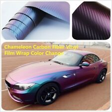 Chameleon Blue-Purple Vinyl Wrap Color Change Sticker Air Realease Anti-Wrinkle
