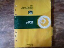 John Deere 230 Auger Platform with Conditioner Parts Catalog Manual Book Pc-1605