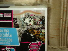 Cotton Rich Monster High Reversable Standard Pillowcase: New In Package