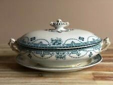 Old Antique Burleigh ware Burgess & Leigh 'Regent' TUREEN Antique Transferware