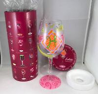 """Lolita """"love my letter h"""" wine glass 15 oz. new in box"""