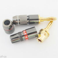 50pcs Monster Gold Plated Speaker Cable Wire 4mm Banana Plug Audio Connector