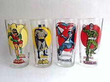 Lot de 4 grands verres Batman 1976 Pepsi ETAT NEUF