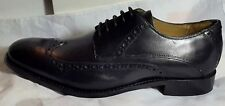 NEW Jeff Banks - Black Leather 'Benjamin' Goodyear Welted Sole Derby Brogues - 9