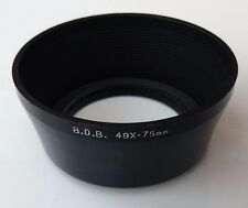 Vintage B.D.B. 49mm Screw In Lens Hood Plastic With Metal Mount