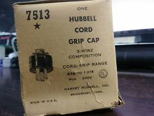 HUBBELL 7513 CORD GRIP CAP 3 WIRE 50 AMP 250 VOLT .875 - 1.218 RANGE NEW IN BOX