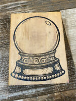 MAIL EXPRESSIONS Crystal Ball Snow Globe Mounted Rubber Stamp