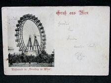 Vienna Austria Prater Riesenrad Ferris Wheel 1897 postcard