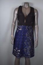 NWT $2995 Burberry Prorsum Paisley Quilted Waistcoat Dress sz 42 EUR US 6 Indigo