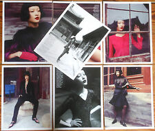 DU JUAN 13 page report top model clippings photos Vogue magazine asian chinese