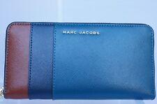 New Marc Jacobs Colorblock Saffiano Continental Wallet Blue Bag