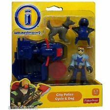 Fisher X7617 Imaginext City Police Figure Motorcycle and Dog Playset Toy
