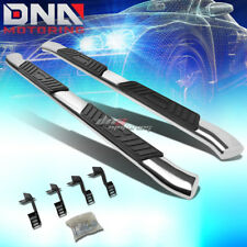 """FOR 99-16 FORD SUPERDUTY SUPER STAINLESS 5""""CHROME CURVED OVAL STEP NERF BAR KIT"""