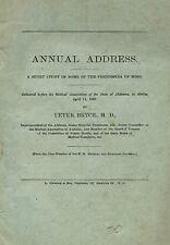 1882 Tuscaloosa Alabama psychiatrist PETER BRYCE: mental health, early paper on