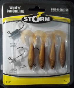 "Storm Wildeye Pro Curl Tail(Bait-n-Switch) Mud Minnow 2-1/2"" - Fishing - ""NIP"""