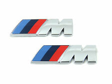 2x Genuine New BMW M WING BADGE Fender Emblem For 1 2 3 4 5 6 7 Series M Sport