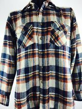 Vintage Plaid Shirt Button Up Activewear Hiking Camping S 60s 70s 80s 90s