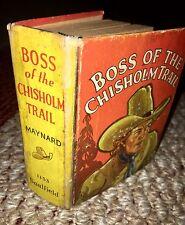 1939 1st Ed Boss of the Chisholm Trail-Vintage Saalfield Publishing:Jumbo Book