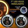 2x 7inch LED Halo Angel Eyes Headlight Projector For Jeep Wrangler Lamp