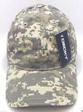 Digital Camouflage Ball Cap DECKY Camo Dad Hat Curved Visor OSFM Adjustable NWT