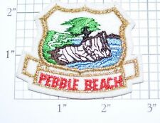 Pebble Beach Vintage Embroidered Clothing Patch Golf Course Monterey California