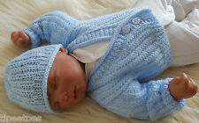 Baby Knitting Pattern 61 'Adan' TO KNIT Boys or Reborn Dolls Cardigan and Hat