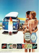 PUBLICITE ADVERTISING 125  2002  G-SHOCK  montres  surf