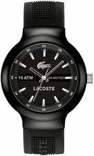NIB Lacoste Men's 2010657 Borneo Analog Display  Quartz Black Watch