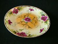"""Fine Japanese Hand Painted Porcelain Small Floral Plate 5 1/4"""", Excellent"""