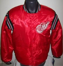 DETROIT RED WINGS STARTER Satin Snap Down Jacket NHL Traditional RED 4X 5X 6X