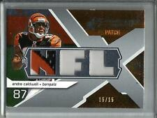 Andre Caldwell 2008 SPX Game Used Jersey Patch #15/15