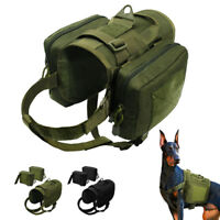 Military Working Dog Harness K9 Molle Vest Tactical With Pockets German Shepherd