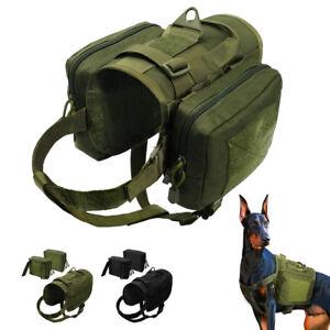 Hundegeschirr Wandern Satteltasche Hunde Reisebox Hundetasche Schwarz  Grün M L