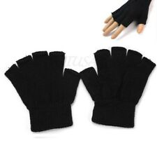 Women Men's Winter Fingerless Gloves Without Fingers Hand Warmer Knitted Mittens