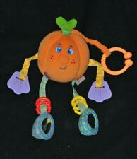 Peluche doudou citrouille d'activités TINY LOVE miroir orange grelot 17 cm TTBE