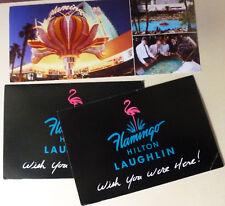 FLAMINGO, Las Vegas Hilton POSTCARD 2 Hilton Laughlin NEVADA - UNUSED