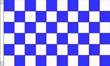 Royal Bleu et blanc damier carreaux 5' x 3' DRAPEAU