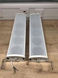 2 x Power Dynamics 952.222 ICS4 Indoor Column Speaker 20w 100v White