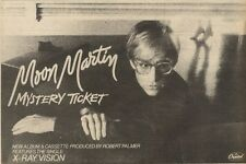 5/6/82Pgn42 Advert: Moon Martin New Album mystery Ticket 7x11