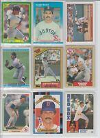 Dwight Evans 9 baseball card lot-3x AllStar-8x Gold Glove-Boston Red Sox Star