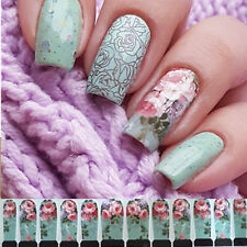 12pcs/Sheet Floral Pattern Nail Art Manicure Water Decal Transfer Sticker C6-001