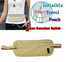 Travel Pouch Hidden ID Passport Holder Compact Security Money Waist Belt Bag 001