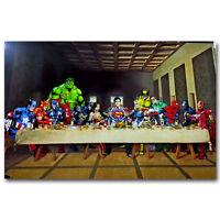 The Halk Spider Man Batman Heroes Silk Movies Poster Print 13×20inch