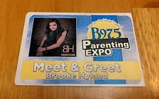 BROOKE HYLAND KNOXVILLE B 97.5 PARENTING EXPO MEET & GREET PASS DECAL DANCE MOMS
