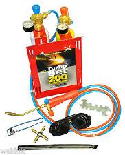 200 OXYTURBO Set Gas Welding & Brazing Mini Portapack Kit inc Bottles E53