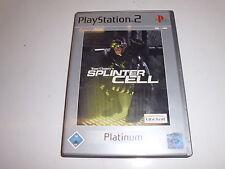 PLAYSTATION 2 ps2 Tom Clancy 's Splinter Cell (Platinum)