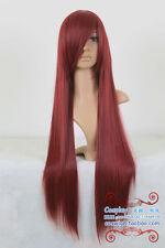 Elza·Scarlet/Shana Dark Red mixed black Long Cosplay Wig 80CM