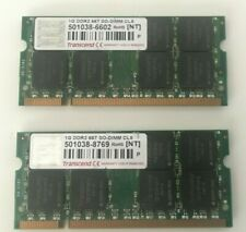 DDR2 SODIMM 2x 1GB Transcend DRAM 667MHz CL5 Laptop Memory